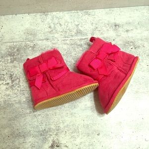 Hot Pink Infant Girl Winter Boots